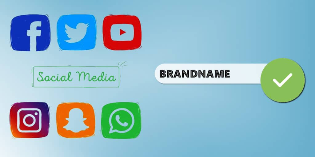 Choose username for social networks that matches your domain name