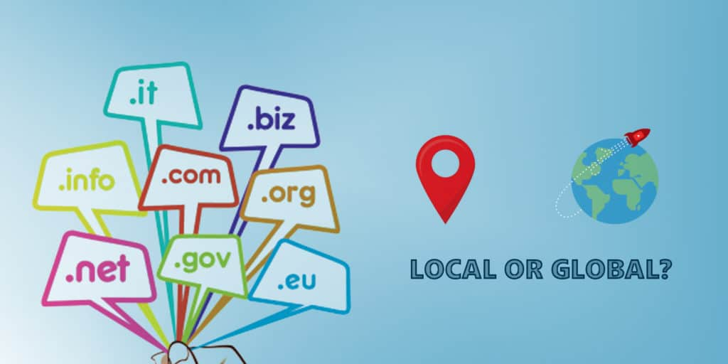 Pick TLD according to your target market - global or local