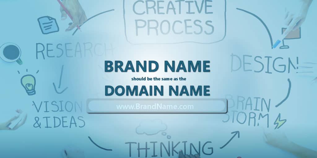 choose a domain name that is identical to your company name